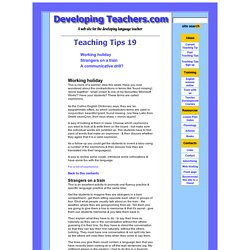 Teaching Tips 19