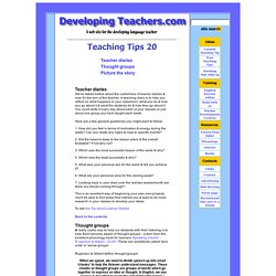 Teaching Tips 20