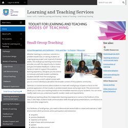 Small Group Teaching - Modes of Teaching - Toolkit for Learning and Teaching - LeTS