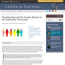 Teaching Beyond the Gender Binary in the University Classroom