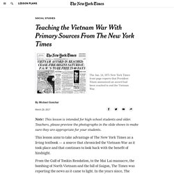 Teaching the Vietnam War With Primary Sources From The New York Times - The New York Times