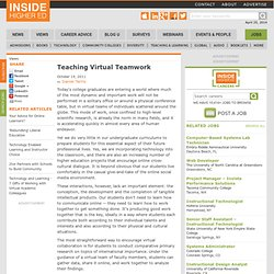 Teaching Virtual Teamwork