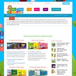 Fun Games for Teaching English Vocbulary, Grammar, Spelling, ESL Games