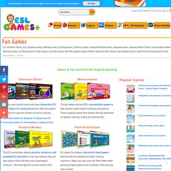 Fun Games for Teaching English Vocbulary, Grammar, Spelling, ESL Games