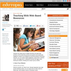 Teaching With Web-Based Resources