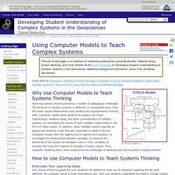 Teaching with Computer Models
