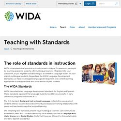 Teaching with Standards