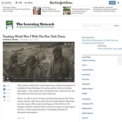 Teaching World War I With The New York Times
