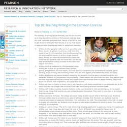 Top 10: Teaching Writing in the Common Core Era