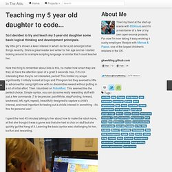 Teaching my 5 year old daughter to code…