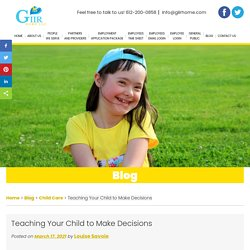 Teaching Your Child to Make Decisions