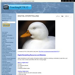 TeachingICTK12 - DIGITAL STORYTELLING