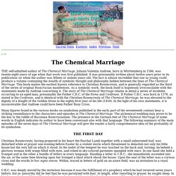 Secret Teachings of All Ages: The Chemical Marriage