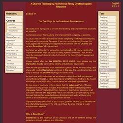17. The Teachings for the Dzambhala Empowerment
