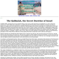 Secret Teachings of All Ages: The Qabbalah, the Secret Doctrine of Israel