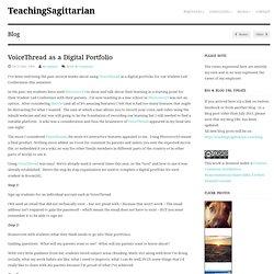 VoiceThread as a Digital Portfolio