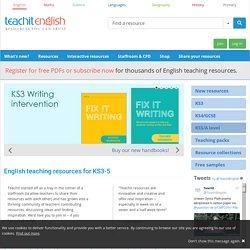 Teachit.co.uk - English teaching resources