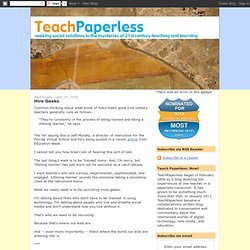 helping teachers create paperless classrooms