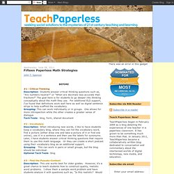 Fifteen Paperless Math Strategies