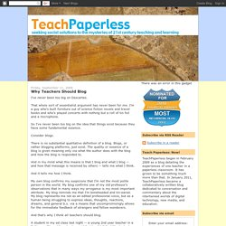 Why Teachers Should Blog