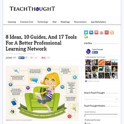 8 Ideas, 10 Guides, And 17 Tools For A Better Professional Learning Network
