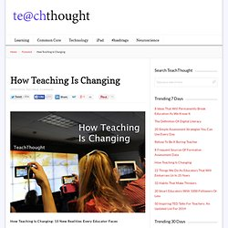 How Teaching Is Changing: 15 Examples
