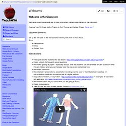 teachwiki - Webcams