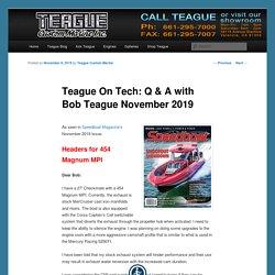 Teague On Tech: Q & A with Bob Teague November 2019