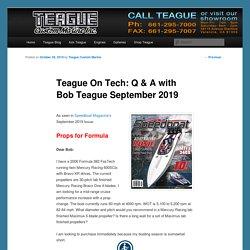 Teague On Tech: Q & A with Bob Teague September 2019