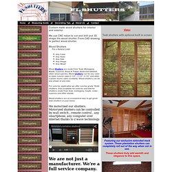 Teak Shutters, custom wood shutter