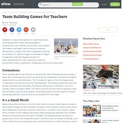 Team Building Games for Teachers