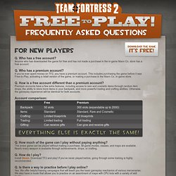 Team Fortress 2: Free-to-Play FAQ