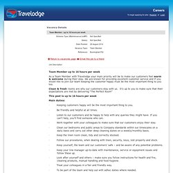 Team Member - up to 16 hours per week - Travelodge