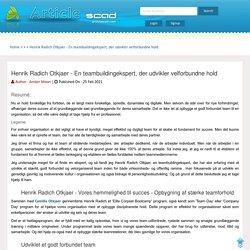 Henrik Radich Otkjaer - En teambuildingekspert, der udvikler velforbundne hold