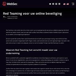 Red Teaming voor uw online beveiliging