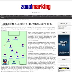 Teams of the Decade, #19: France, Euro 2004