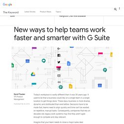 New ways to help teams work faster and smarter with G Suite