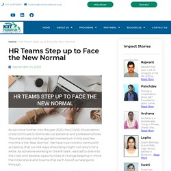 HR Teams Step up to Face the New Normal - NIIT Foundation