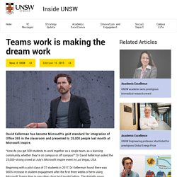 Teams work is making the dream work