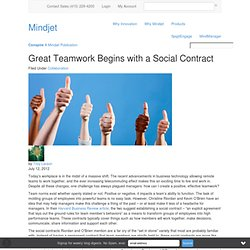 Great Teamwork Begins with a Social Contract