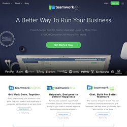 Project management software: TeamworkPM, online collaboration & task manager
