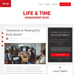 Teamwork vs. Individual work