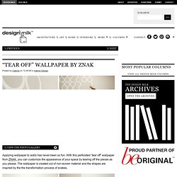 """Tear Off"" Wallpaper by ZNAK"
