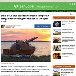 Build-your-own wooden teardrop camper kit brings boat-building techniques to the open road
