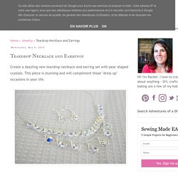 Teardrop Necklace and Earrings - Adventures of a DIY Mom