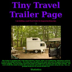 Teardrop Trailer, RV, Home Built trailer