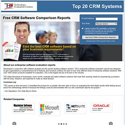 Top 20 CRM Systems