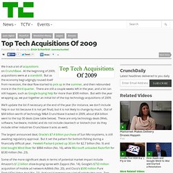 Top Tech Acquisitions Of 2009