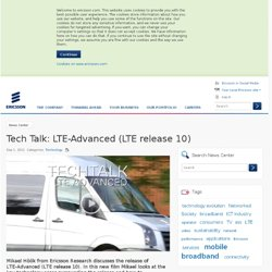Tech Talk: LTE-Advanced (LTE release 10)