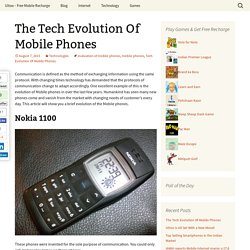 The Tech Evolution Of Mobile Phones